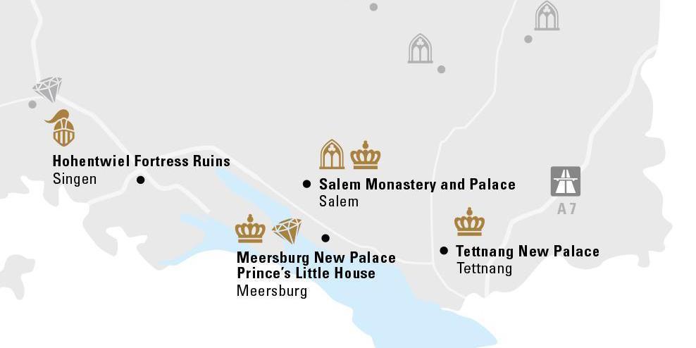 Places near by; Illustration: Staatliche Schlösser und Gärten Baden-Württemberg, Jung Kommunikation