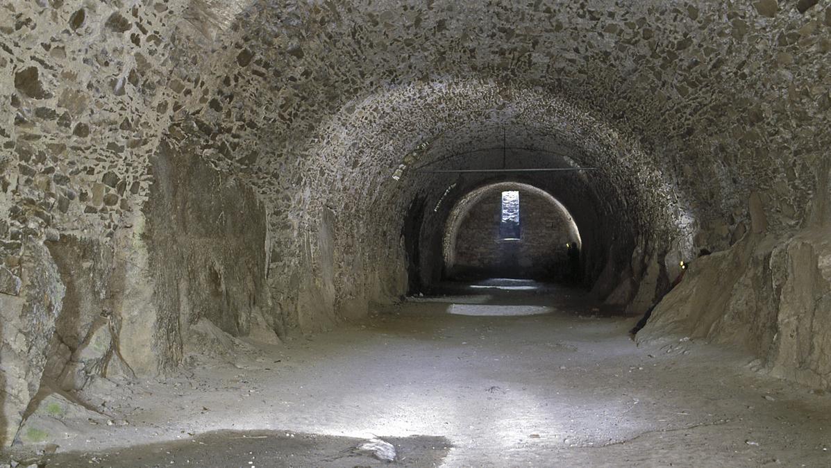 Der Gewölbekeller der oberen Festung der Festungsruine Hohentwiel; Foto: Staatliche Schlösser und Gärten Baden-Württemberg, Arnim Weischer