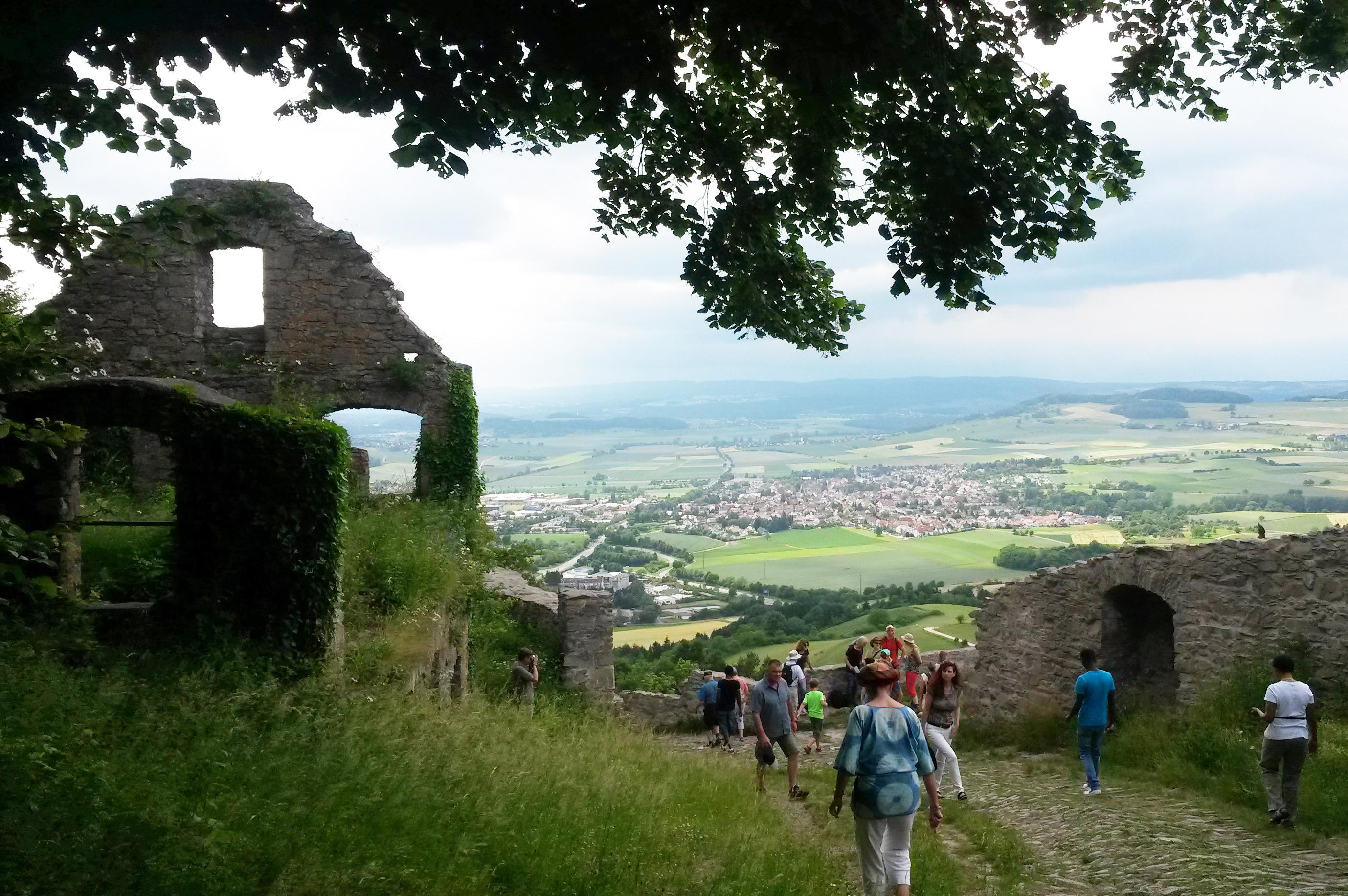 Festungsruine Hohentwiel, Besucher am Hohentwiel Tag; Foto: Staatsanzeiger für Baden-Württemberg GmbH, Cornelia Lindenberg