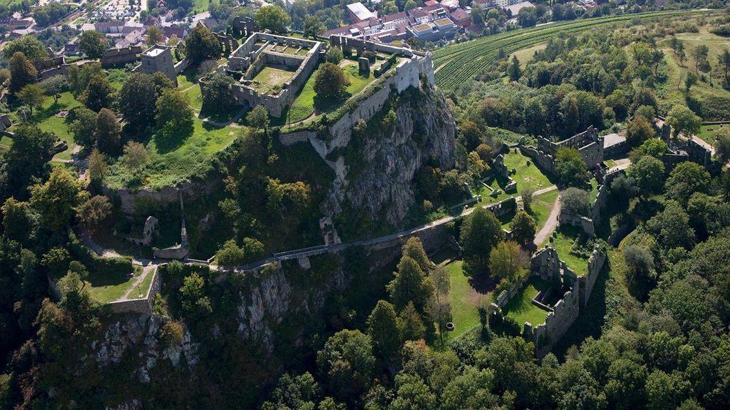 Festungsruine Hohentwiel, Luftansicht obere Festung