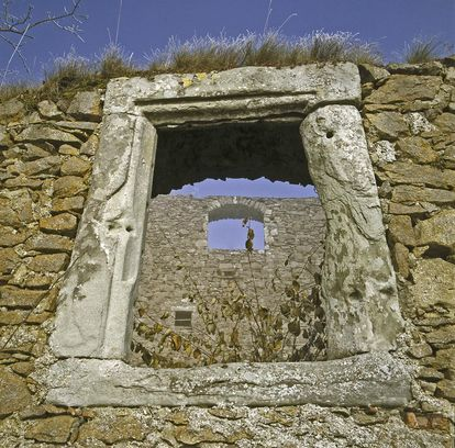 Hohentwiel Fortress Ruins, window in the upper fortress