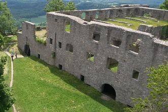Bandhaus in der oberen Festung der Festungsruine Hohentwiel