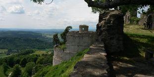 Festungsruine Hohentwiel, Ausblick über das Umland
