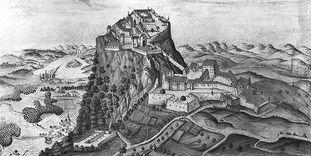 Festungsruine Hohentwiel, Aquarell um 1730