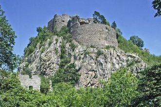 Das Rondell Augusta der Festungsruine Hohentwiel