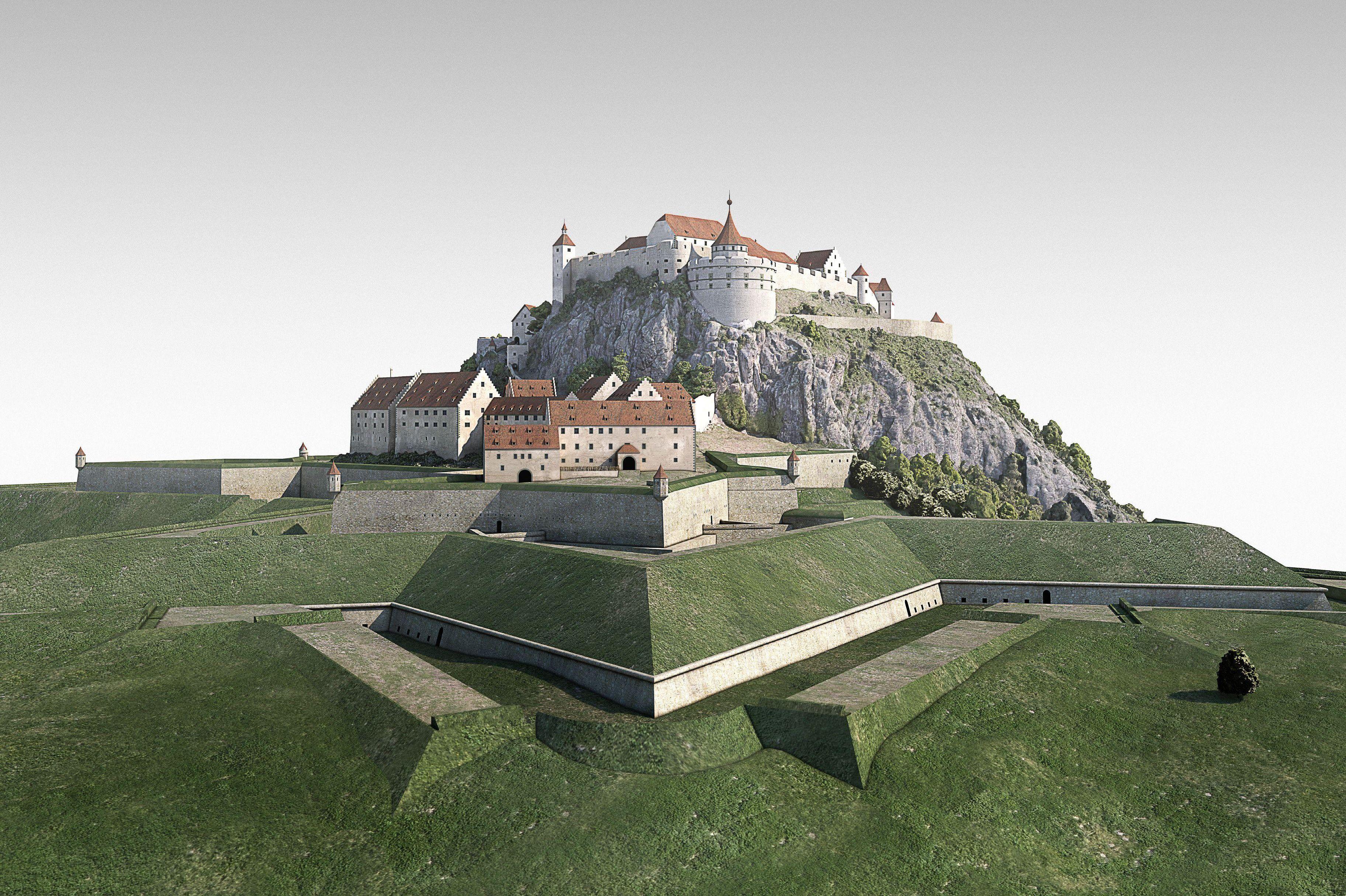 Digitales Gesamtmodell der Festungsruine Hohentwiel