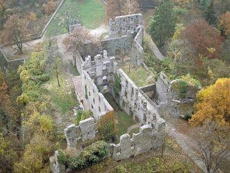 Festungsrunie Hohentwiel, Luftbild