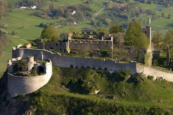 Luftansicht der Festungsruine Hohentwiel
