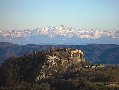 Festungsruine Hohentwiel, Ausblick auf die Alpen